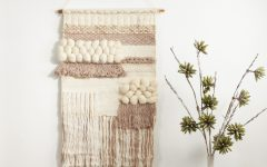Blended Fabric Fringed Design Woven with Rod