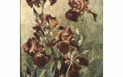 Blended Fabric Irises Tapestries