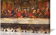 Blended Fabric Leonardo Davinci the Last Supper Wall Hangings