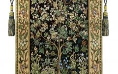 Blended Fabric Tree of Life, William Morris Wall Hangings