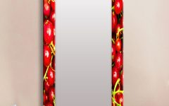 Red Framed Wall Mirrors