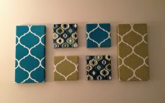 Fabric Wrapped Canvas Wall Art