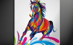 Abstract Horse Wall Art