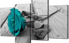 Teal and Black Wall Art
