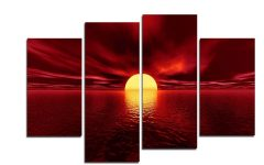 Canvas Wall Art in Red