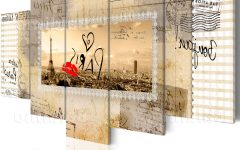Canvas Wall Art Of Paris