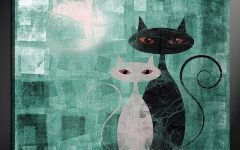 Cat Canvas Wall Art