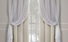 Catarina Layered Curtain Panel Pairs With Grommet Top