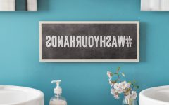Cheng Wash Your Hands Hashtag Bathroom Wall Plaque