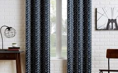 Chevron Blackout Grommet Curtain Panels