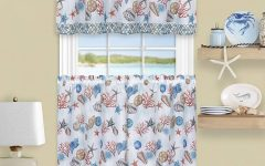 Coastal Tier and Valance Window Curtain Sets