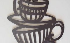 Metal Coffee Cup Wall Art
