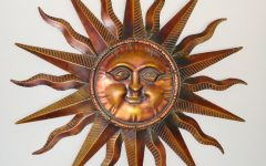 Large Metal Sun Wall Art