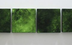Green Abstract Wall Art