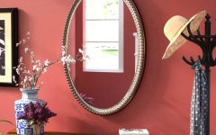 Glen View Beaded Oval Traditional Accent Mirrors