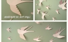White Birds 3D Wall Art