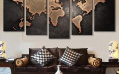 World Map Wall Art Canvas