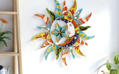 Nature Metal Sun Wall Decor