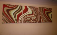 Abstract Fabric Wall Art