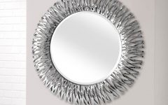 Silver Round Wall Mirrors