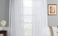 Double Layer Sheer White Single Curtain Panels