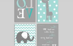 Elephant Wall Art for Nursery