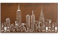 Metal Wall Art New York City Skyline
