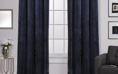 Velvet Heavyweight Grommet Top Curtain Panel Pairs