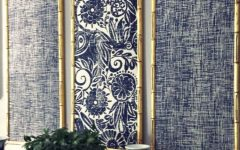 Ikat Fabric Wall Art
