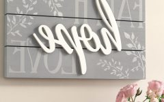 Faith, Hope, Love Raised Sign Wall Decor
