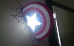 3d Wall Art Captain America Night Light