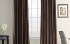 Faux Silk Taffeta Solid Blackout Single Curtain Panels