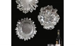 Silver Metal Wall Art Flowers