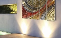 Abstract Angkor Swirl Metal Wall Art