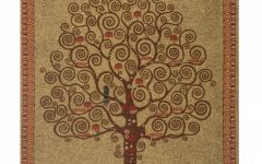Blended Fabric Klimt Tree of Life Wall Hangings