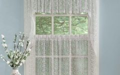 Elegant White Priscilla Lace Kitchen Curtain Pieces