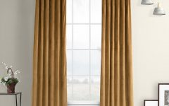 Heritage Plush Velvet Single Curtain Panels