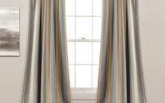 Julia Striped Room Darkening Window Curtain Panel Pairs