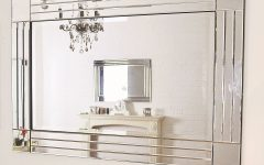 Large Glass Bevelled Wall Mirrors