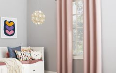 Riley Kids Bedroom Blackout Grommet Curtain Panels