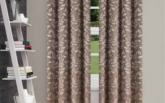 Superior Leaves Insulated Thermal Blackout Grommet Curtain Panel Pairs