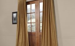 Flax Gold Vintage Faux Textured Silk Single Curtain Panels