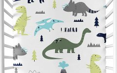 Blended Fabric Mod Dinosaur 3 Piece Wall Hangings Set