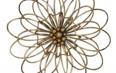 Flower Urban Design Metal Wall Decor