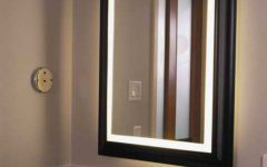 Large Lighted Bathroom Wall Mirrors