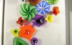 Fused Glass Flower Wall Art
