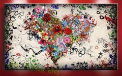 Hearts Canvas Wall Art