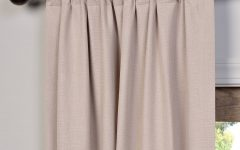 Heavy Faux Linen Single Curtain Panels