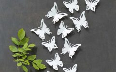White Metal Butterfly Wall Art
