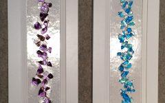 Purple Fused Glass Wall Art